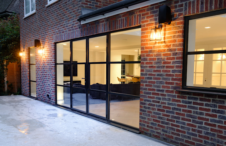 Sieger Legacy windows and door IQ Glass UK Glass doors Aluminium/Zinc Brown
