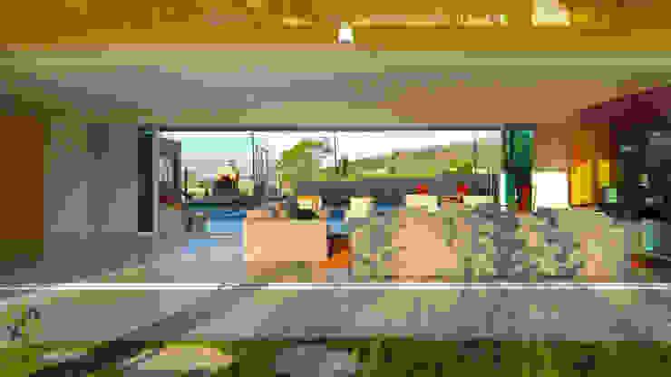 Arquitetura Sônia Beltrão & associados Modern Living Room Amber/Gold