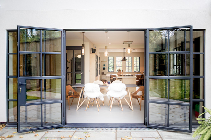 Woodstock Road used Mondrian Doors by IQ Glass UK Modern Iron/Steel