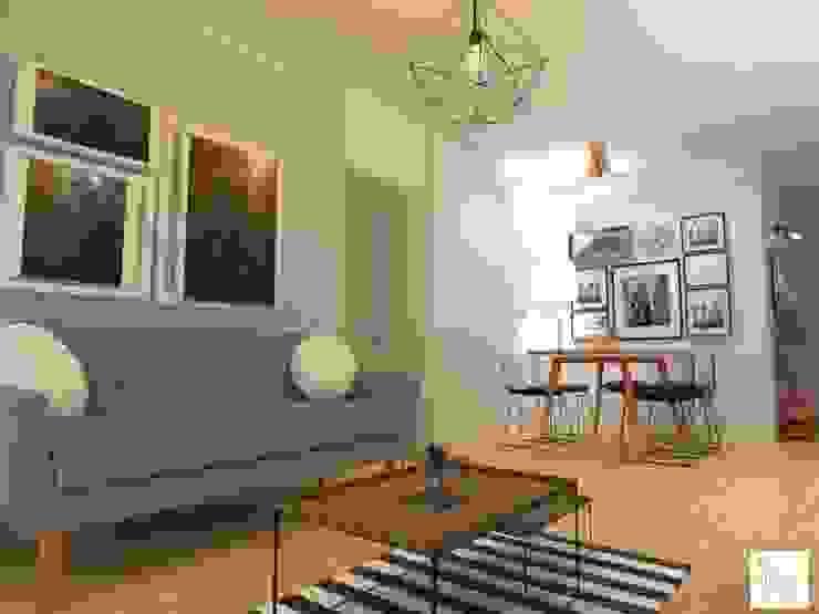 Combinacion de Escandinavo con Industrial Salones escandinavos de Arquimundo 3g - Diseño de Interiores - Ciudad de Buenos Aires Escandinavo Hierro/Acero