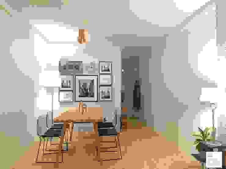 Salas de jantar escandinavas por Arquimundo 3g - Diseño de Interiores - Ciudad de Buenos Aires Escandinavo Madeira Efeito de madeira