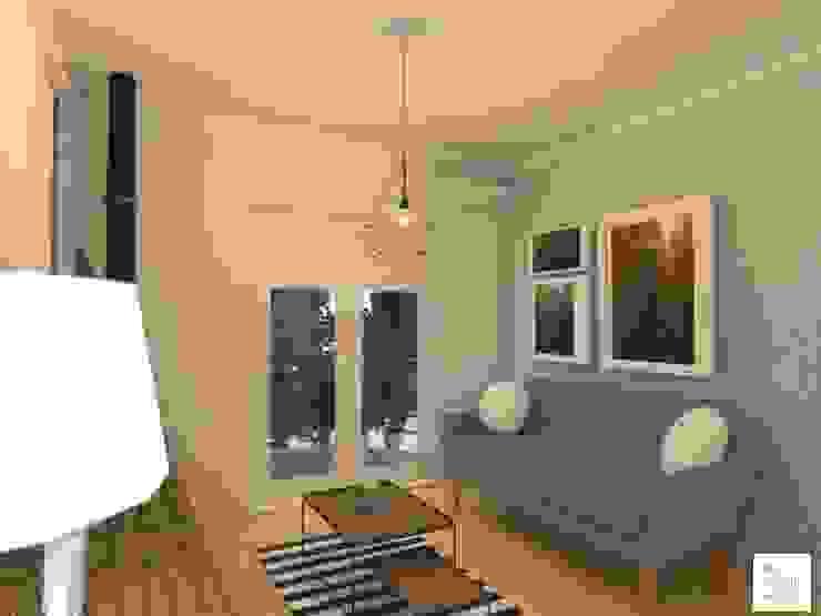 living Salones escandinavos de Arquimundo 3g - Diseño de Interiores - Ciudad de Buenos Aires Escandinavo Piedra