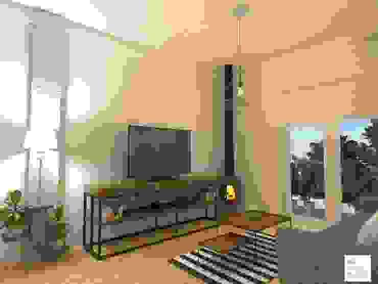 Salas de estar industriais por Arquimundo 3g - Diseño de Interiores - Ciudad de Buenos Aires Industrial Ferro/Aço