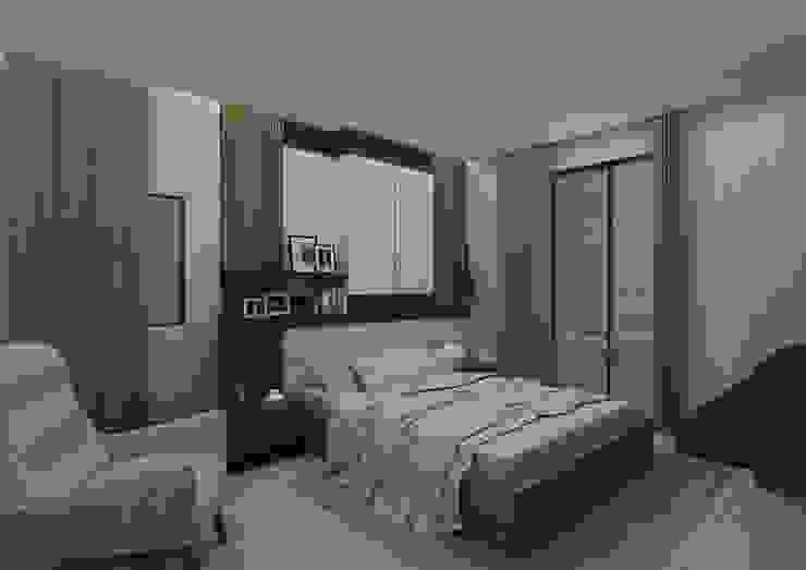 Chambre moderne par PRATIKIZ MIMARLIK/ ARCHITECTURE Moderne
