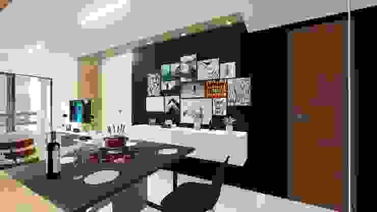 Comedores modernos de Sônia Beltrão Arquitetura Moderno Tablero DM