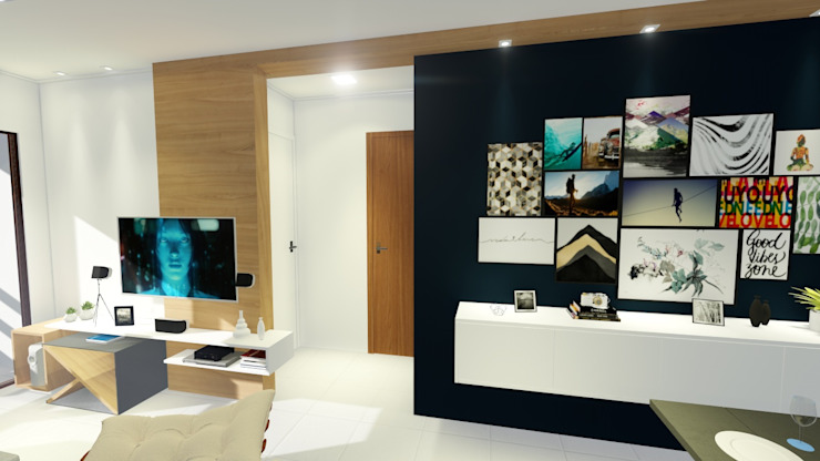 by Sônia Beltrão Arquitetura Modern Wood Wood effect