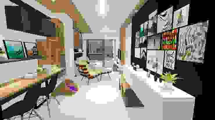 Livings modernos: Ideas, imágenes y decoración de Sônia Beltrão Arquitetura Moderno Tablero DM