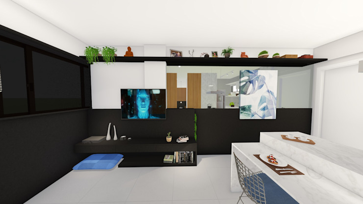Sala de estar/ Espelho Salas de estar modernas por Arquitetura Sônia Beltrão & associados Moderno MDF