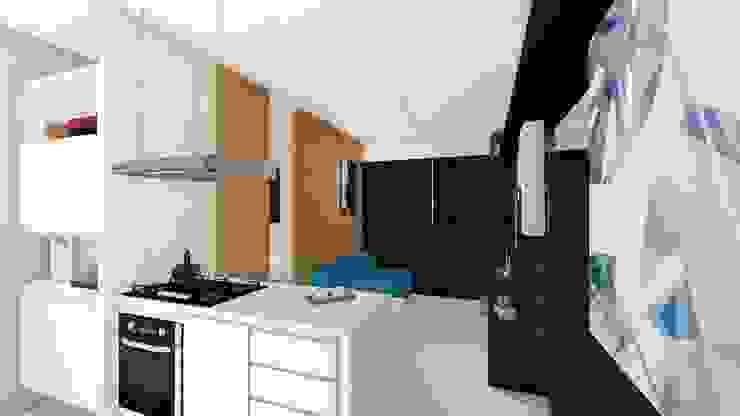 Salas modernas de Arquitetura Sônia Beltrão & associados Moderno Madera Acabado en madera