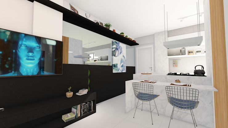 Comedores de estilo minimalista de Arquitetura Sônia Beltrão & associados Minimalista Cuarzo