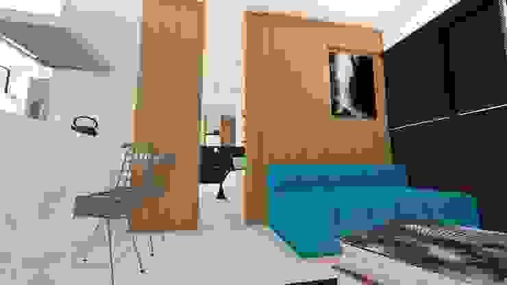 Salas modernas de Arquitetura Sônia Beltrão & associados Moderno Tablero DM
