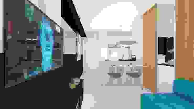 Sala/ Sofá/ Mesa Salas de jantar modernas por Arquitetura Sônia Beltrão & associados Moderno Quartzo