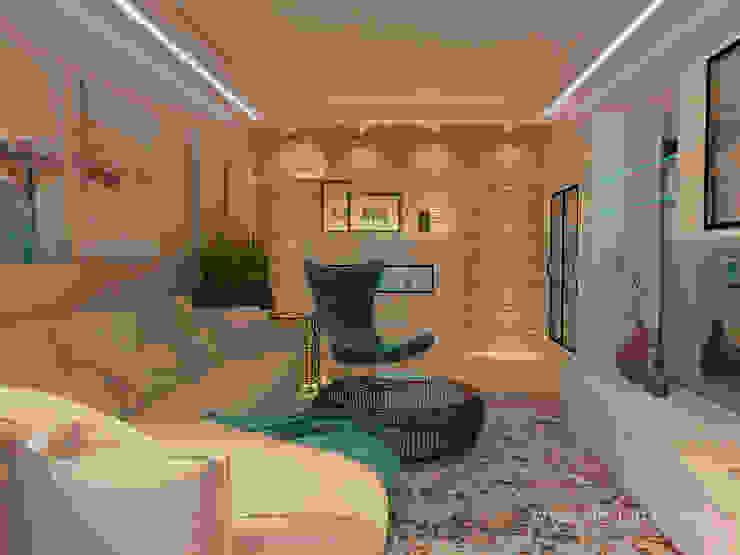 студия Design3F Salones de estilo minimalista Beige