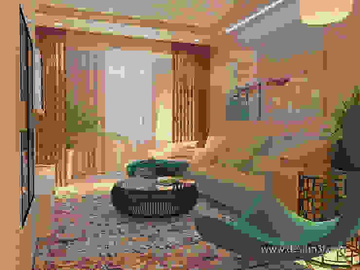 студия Design3F Salones de estilo minimalista