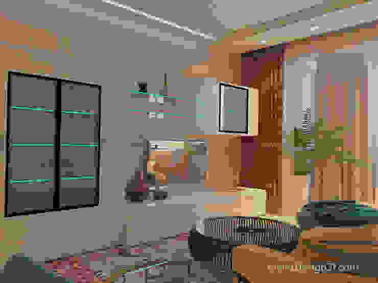 Minimalistische woonkamers van студия Design3F Minimalistisch
