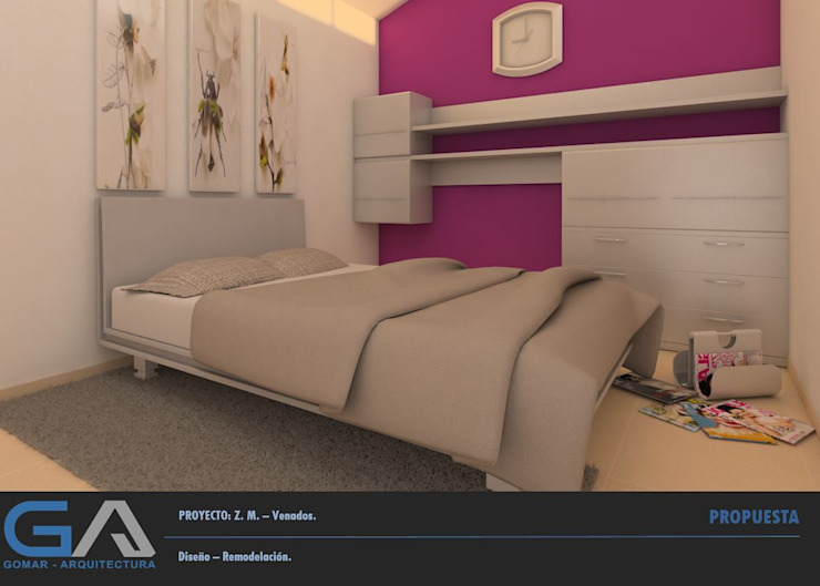 Modern style bedroom by Gomar Arquitectura Modern