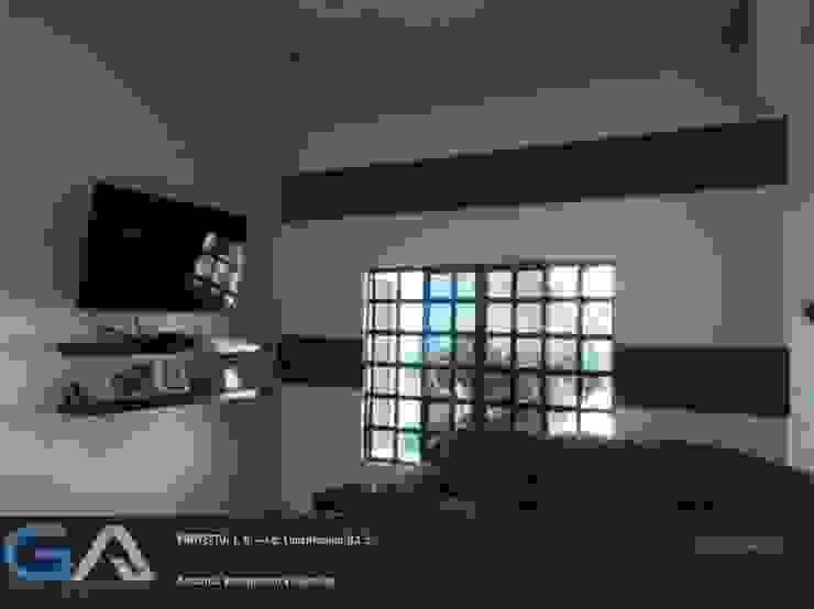 J. R. – Cd. Constitución B.C.S. Salas multimedia rústicas de Gomar Arquitectura Rústico