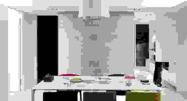 餐廳右後方則為廚房 根據 直方設計有限公司 現代風