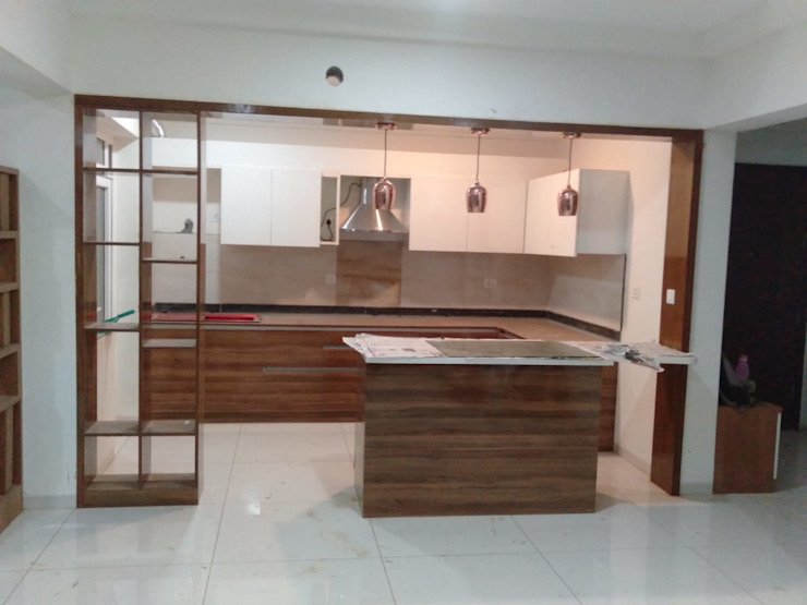 Mr.Unnikrishnan's Residence, Urban Forest, Whitefield, Bangalore: modern  by Design Space,Modern Plywood
