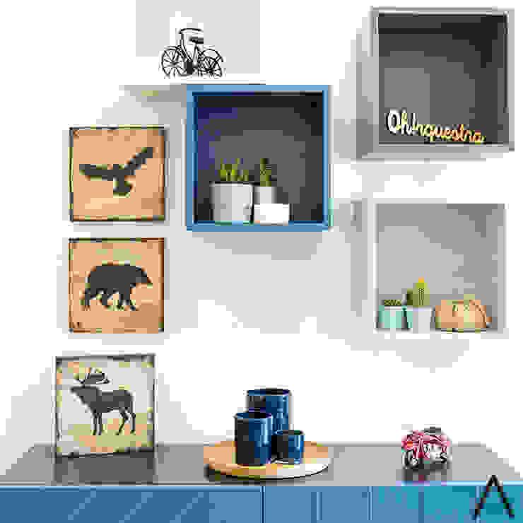par Estudi Aura, decoradores y diseñadores de interiores en Barcelona Moderne Bois Effet bois