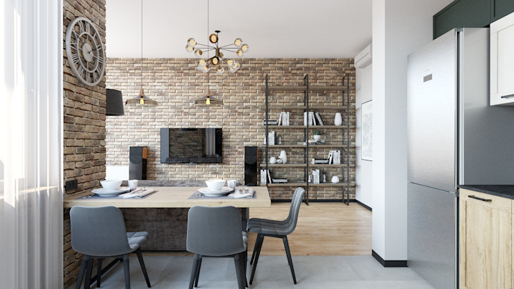 Industrial style living room by IL Interior Industrial Bricks