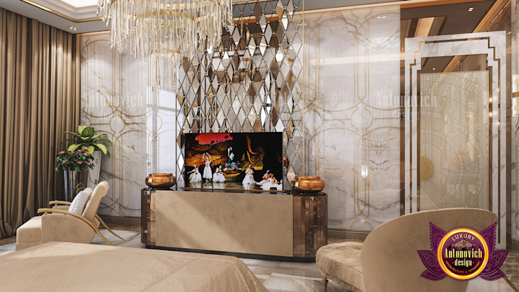 Neat and Stunning Bedroom Interior by Luxury Antonovich Design