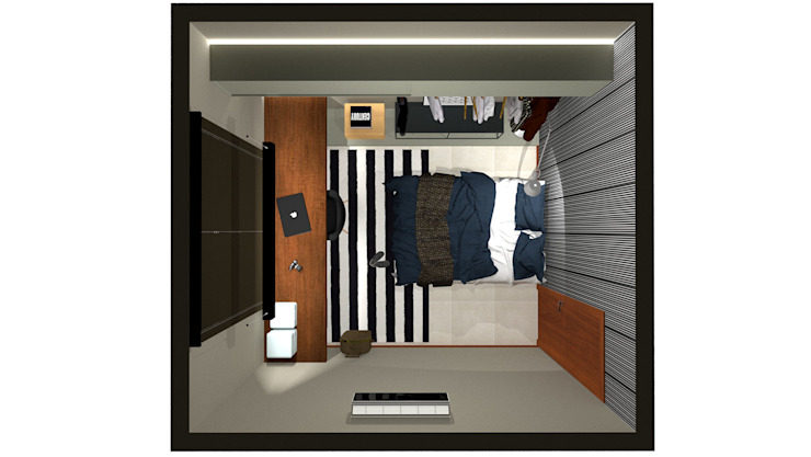 GUEST ROOM por Pedro Ivo Fernandes | Arquiteto e Urbanista Moderno