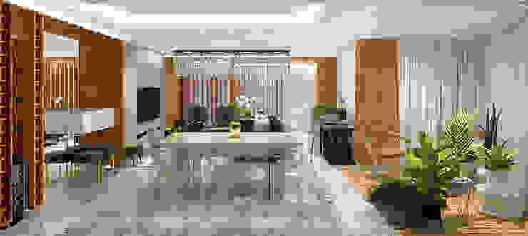 HOME LIVING DINNING & LOUNG Salas de jantar modernas por Pedro Ivo Fernandes | Arquiteto e Urbanista Moderno