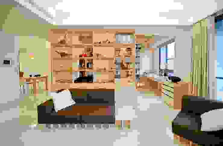 別出心裁的沙發設計 直方設計有限公司 Living room Wood effect