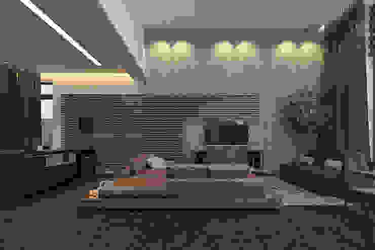 Ruang Keluarga Gaya Industrial Oleh pashchak design Industrial