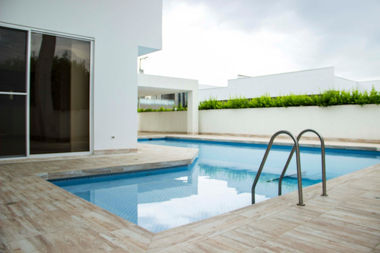 Casa gino, valle verde jamundi Piscinas de estilo minimalista de Am arquitectura Minimalista