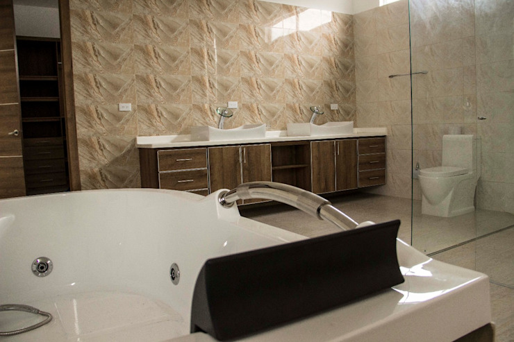 Casa gino, valle verde jamundi Baños de estilo minimalista de Am arquitectura Minimalista