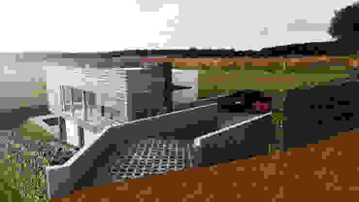 Casa efrain,buitrera: Casas de estilo  por Am arquitectura, Moderno