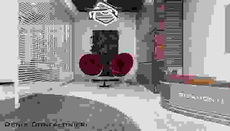 Reception Uffici: Complessi per uffici in stile  di Denis Confalonieri - Interiors & Architecture