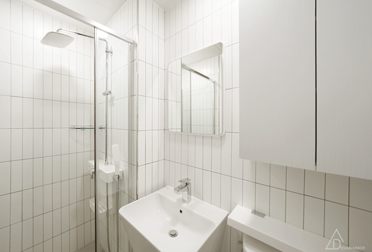 차분한 무드의 오피스텔 인테리어 모던스타일 욕실 by 디자인 아버 모던