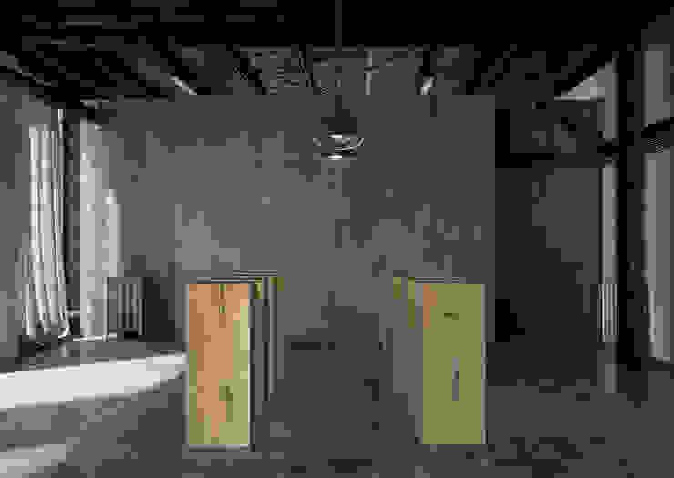 sokkel en zuilen의 현대 , 모던 우드 우드 그레인