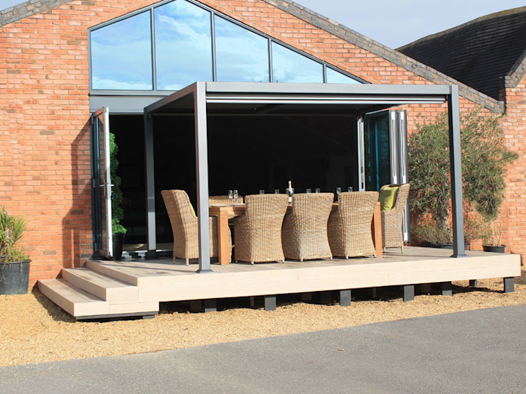 Galaxy Gazebo Modern garden by Garden Furniture Centre Modern Aluminium/Zinc