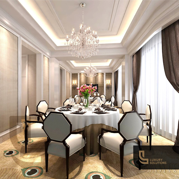 Classic style dining room by Luxury Solutions Classic Plywood