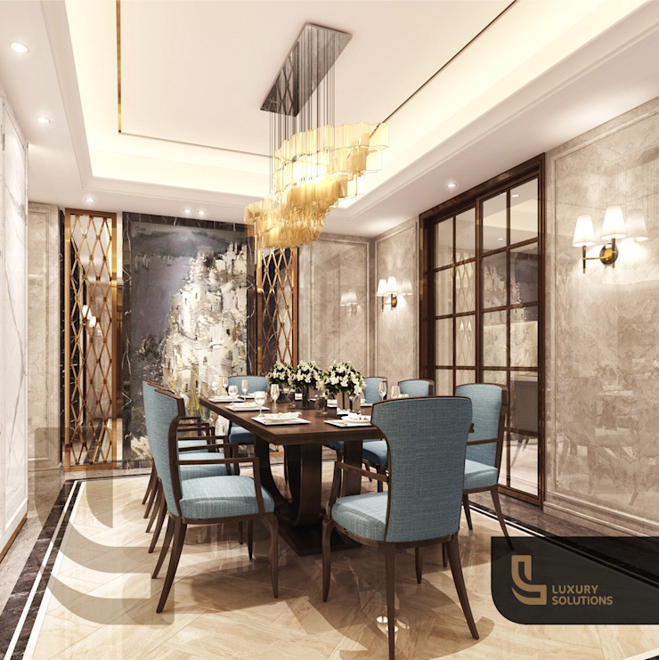 Classic style dining room by Luxury Solutions Classic Tiles