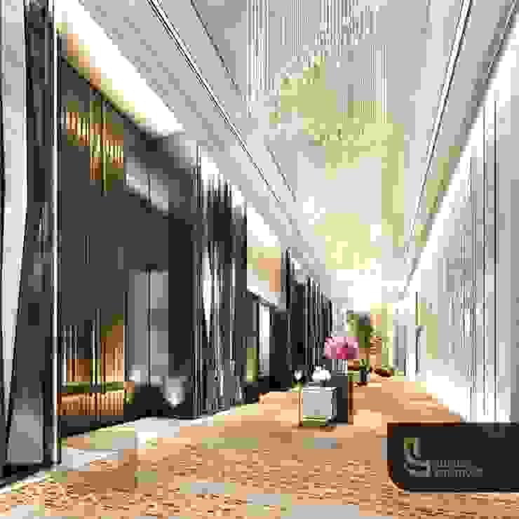 Modern corridor, hallway & stairs by Luxury Solutions Modern Metal