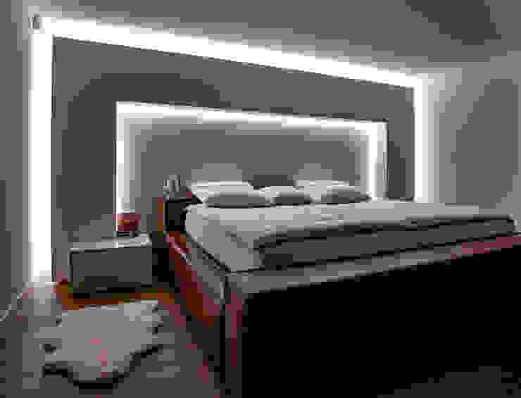Moreno Licht mit Effekt - Lichtplaner의  작은 침실