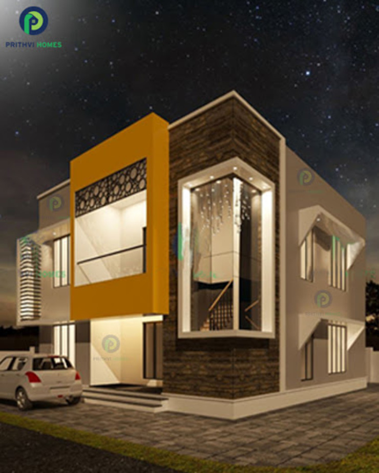 Top Construction Companies in Thrissur Asian style houses by Prithvi Homes Asian