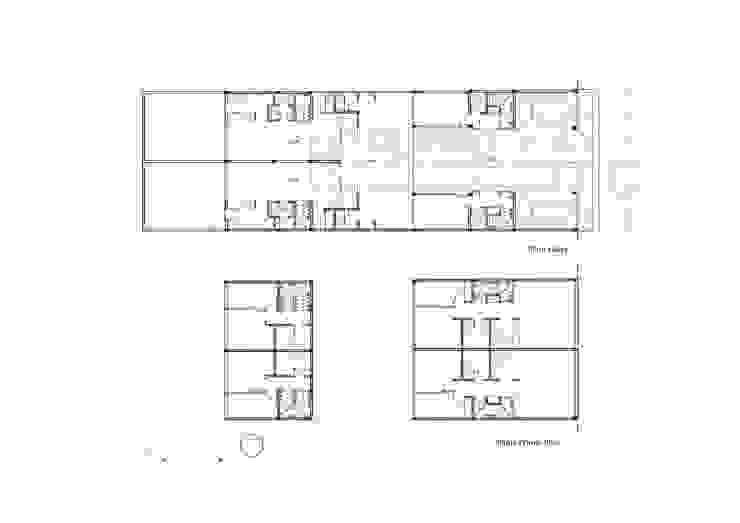 Diseño de 4 Viviendas con Patio en La Plata por por SMF Arquitectos de SMF Arquitectos / Juan Martín Flores, Enrique Speroni, Gabriel Martinez Moderno