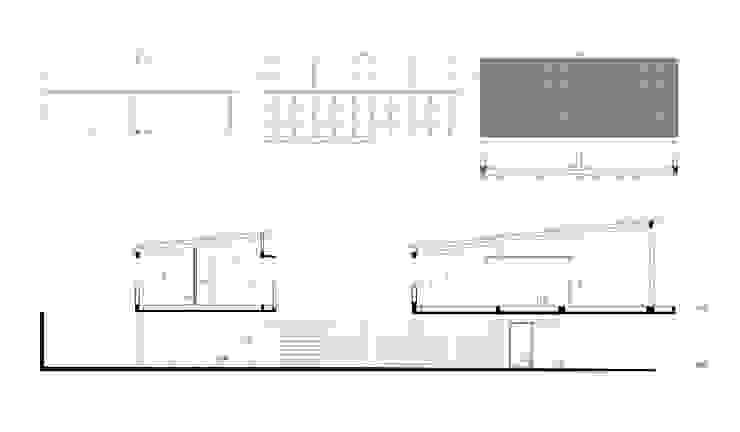 Diseño de 4 Viviendas con Patio en La Plata por por SMF Arquitectos:  de estilo  por SMF Arquitectos  /  Juan Martín Flores, Enrique Speroni, Gabriel Martinez,Moderno