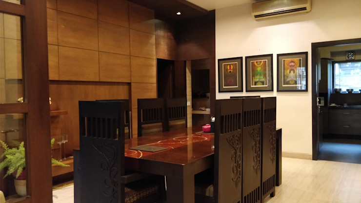 CONTEMPORARY DINING AREA Modern dining room by Rashi Agarwal Designs Modern Plywood