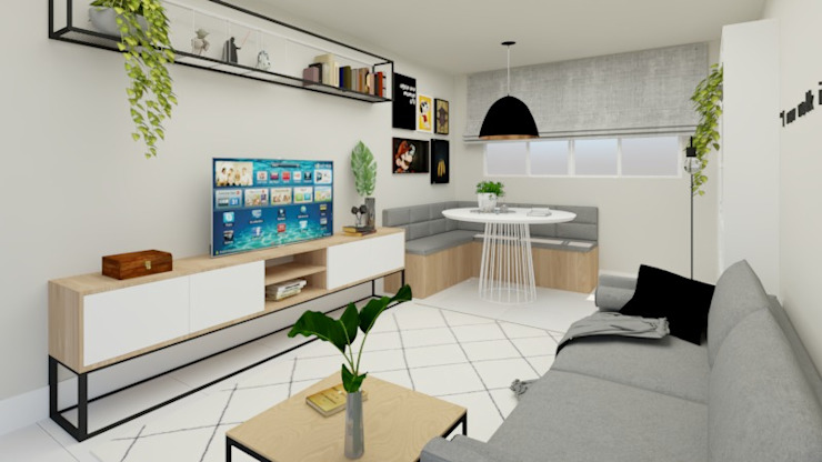 La Decora Ruang Keluarga Minimalis Grey