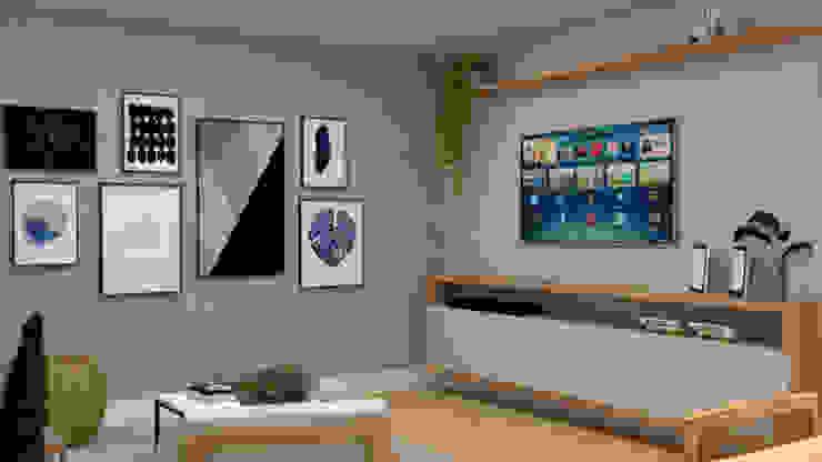 La Decora Livings modernos: Ideas, imágenes y decoración Acabado en madera