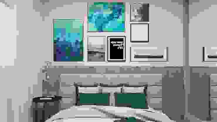 La Decora Kamar tidur kecil MDF Blue