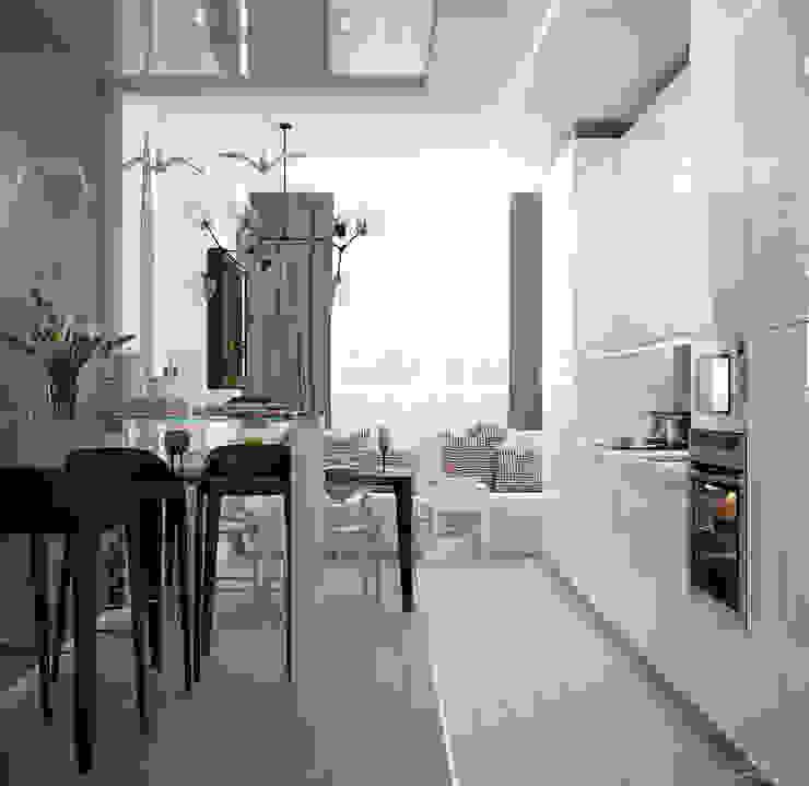 Cuisine moderne par Студия интерьерного дизайна happy.design Moderne