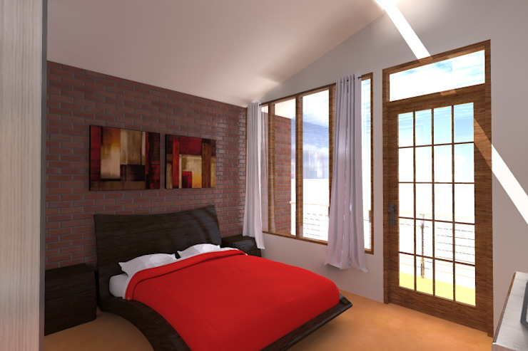 Modern style bedroom by ARDI Arquitectura y servicios Modern Bricks